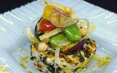 Orange zest and oregano scented swordfish steak at Valentino
