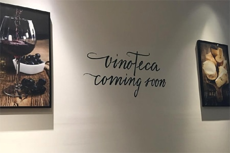 The bar area at Culina Modern Italian will be transformed into a vinoteca