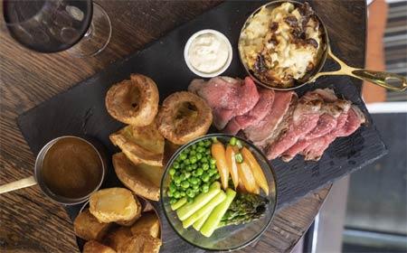 Chef Brendan Collins offers an English Roast on Sundays at Wilshire Restaurant