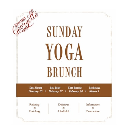 Sunday Yoga Brunches feature healthy food and a discussion with a guest yoga instructor