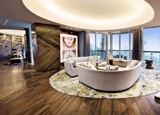 The show apartment fills the tenth floor of OPUS HONG KONG