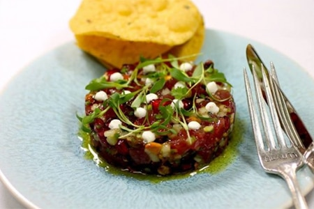 Ahi tuna tartare at The Church Key, one of the Top 10 American Restaurants in Los Angeles