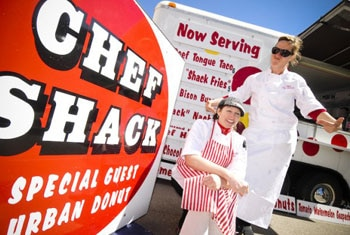 Chefs Carrie Summer and Lisa Carlson of the Chef Shack