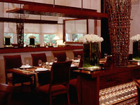 The dining room of The Restaurant at Meadowood in St. Helena, CA