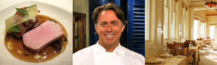 From left to right: a creation from Chef Mavro, John Besh of Restaurant August in New Orleans, Studio in Laguna Beach, CA