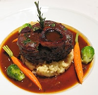Comfort food with an Italian accent brings us old favorites like osso buco