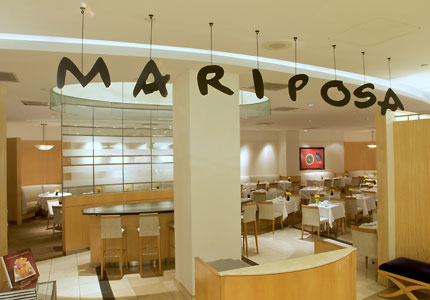The dining area at Mariposa in Neiman Marcus