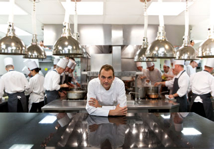 Chef Daniel Humm in his kitchen of The NoMad in NYC