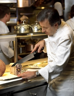 Chef Boulud at work (photo by B. Johnson)
