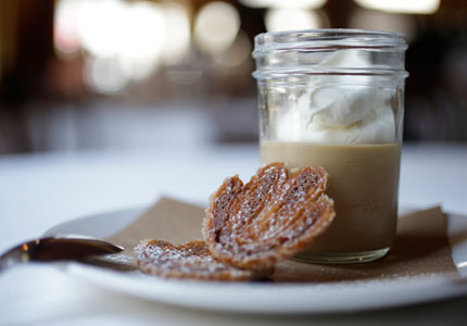 Bronwen Wyatt's butterscotch pudding (Photo by Chris Granger)