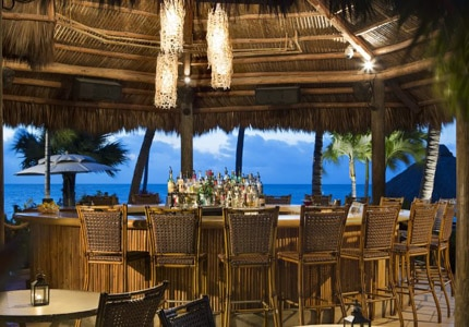The bar at Atlantic's Edge at Checca Lodge & Spa in Islamorada, Florida