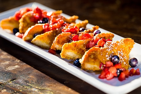 French toast at Blu Jam Cafe, one of GAYOT's Top 10 Restaurants for Brunch in Los Angeles Area