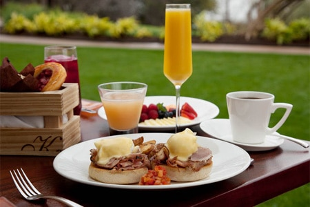 Enjoy brunch at Trio in the Four Seasons Hotel Austin
