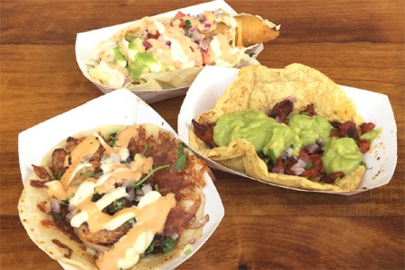 Enjoy delicious tacos while saving some dough at IB Street Tacos, one of GAYOT's Best Cheap Eats in San Diego