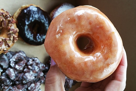 Folks line up at Donut Friend for creative doughnuts that just so happen to be vegan