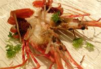 Monterey Bay spot prawn amuse bouche
