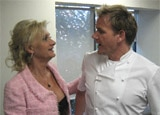 Sophie Gayot & Gordon Ramsay before the judging moments