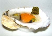 Amuse bouche of uni