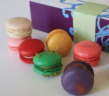 Colorful macaroons from Jin Pâtisserie