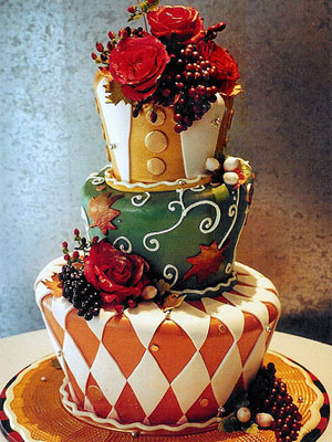 Holiday Topsy cake from Rosebud Cakes