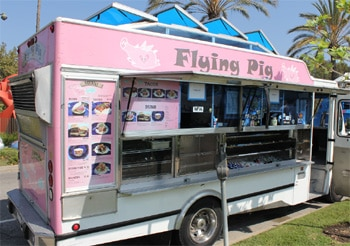 The signature pork belly buns make Flying Pig one of the Top 10 Food Trucks in Los Angeles