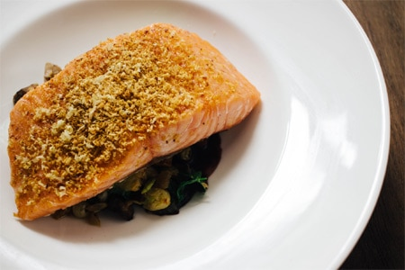 Salmon is one of the many light options at The Little Beet Table, one of GAYOT's Top 10 Heart-Healthy Restaurants in the U.S.