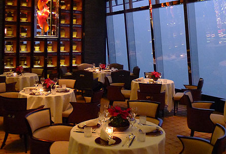Read in-depth features about the top restaurants in the world! Pictured here: Tin Lung Heen, one of our favorite eateries in Hong Kong, with second-to-none views of Victoria Harbour