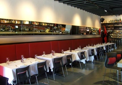The dining room at Johnny V in Fort Lauderdale, Florida