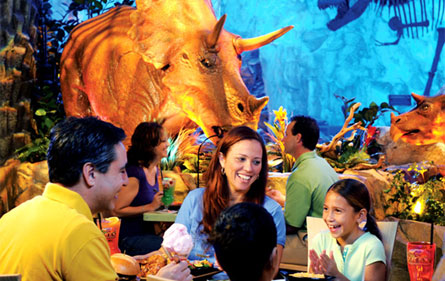 T-Rex Restaurant in Lake Buena Vista, Florida, is one of the best kid-friendly eateries in the U.S.