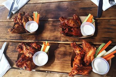 Barrel & Ashes is now offering a special Monday Night Football menu (with smoked chicken wings, of course)
