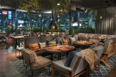 """Sit on the patio at HYDE Sunset Kitchen + Cocktails and savor California fare from """"Top Chef"""" alum Chris Crary"""