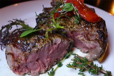 Steak & Whisky is just the kind of manly-modern space where you'll feel right at home digging into pricey prime cuts
