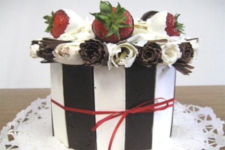 Black and white chocolate cake from La Provence Patisserie & Cafe