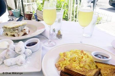 Enjoy weekend brunch at Chez Melange in Redondo Beach