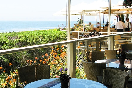 Enjoy ocean views at Geoffrey's, one of GAYOT's Best Outdoor Dining Restaurants in Los Angeles