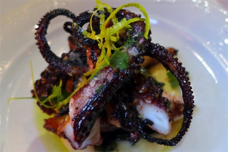 Octopus at Pistola, one of many restaurants that have opened in Los Angeles recently. Find more on GAYOT's roundup.