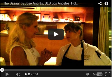 Chef de cuisine Holly Jivin at The Bazaar by José André at in Los Angeles