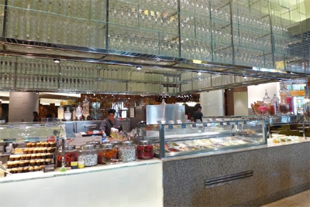 One of the Top 10 Buffets in Las Vegas, Bacchanal Buffet at Caesars Palace is an over-the-top feast featuring nine open kitchens and more than 500 items served daily.