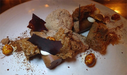 Chocolate-themed dessert with Nutella sponge from ink. in Los Angeles