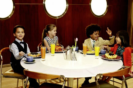 Enjoy a meal with the family at Norma's, one of GAYOT's Best Kid-Friendly Restaurants in New York