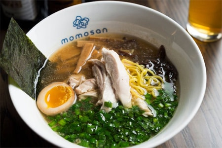 Tokyo Chicken ramen is one of the noodle soup options at Momosan Ramen & Sake