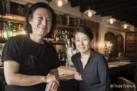 Talented chef Kenichi Tajima is in the kitchen at this fowl-centric restaurant