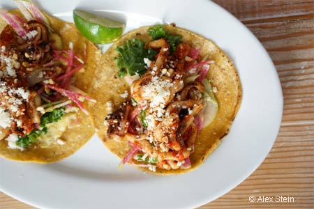 Spicy squid tacos are among the fish-friendly fare at Seamore's