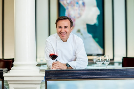 Daniel Boulud's restaurant is one of the highest rated restaurants in New York