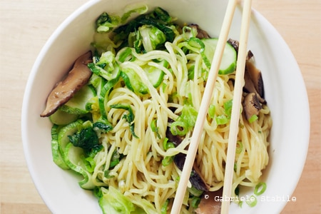 Ginger scallion noodles from Momofuku Noodle Bar, one of GAYOT's Top 10 Value Restaurants in New York Area