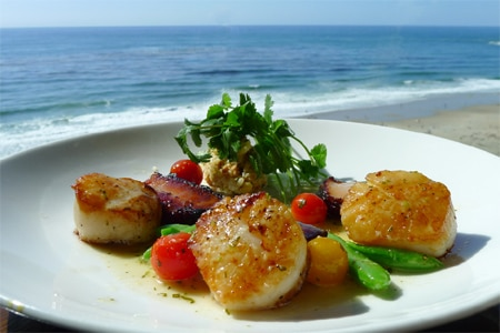 Scallops at RAYA, one of the Best Orange County View Restaurants