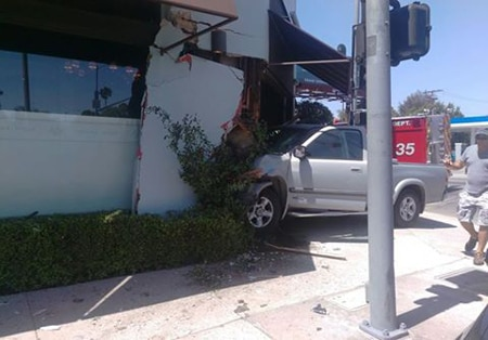 Truck slams into front door of Osteria Mozza