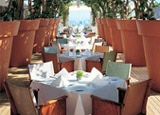 Outdoor dining at Asia de Cuba in West Hollywood