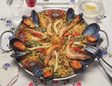 Paella, a Spanish rice dish, comes in many varieties
