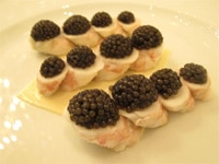 Langoustines with caviar from Alain Ducasse au Plaza Athénée in Paris